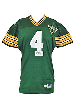official photos 07e45 5c27a Lot Detail - 1993 Brett Favre Green Bay Packers Game-Used ...