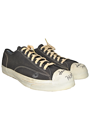 Sam Jones Boston Celtics Game-Used Autographed Sneakers (JSA • Jones LOA)