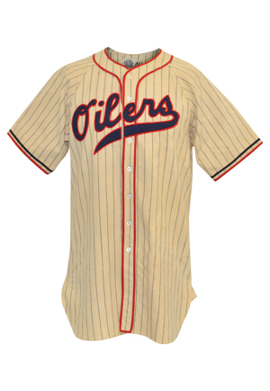 "1940 Jerome ""Dizzy"" Dean Tulsa Oilers Game-Used Home Flannel Uniform (2)(Only Known Example)"