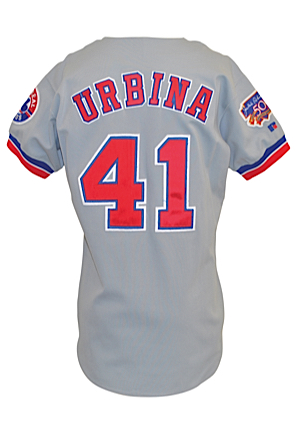 1997 Ugueth Urbina Montreal Expos Game-Used Road Jersey (Sourced From Team)