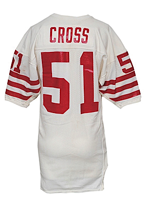 Late 1980s Randy Cross San Francisco 49ers Game-Used Road Jersey