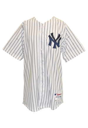 5/18/2014 Brian McCann New York Yankees Game-Used & Autographed Home Pinstripe Jersey (JSA • PSA/DNA • MLB Hologram • Steiner Sports LOA)
