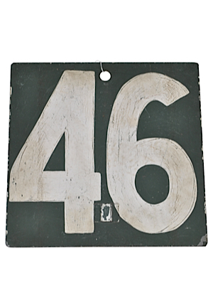 Original Fenway Park Green Monster Scoreboard Number 46/47