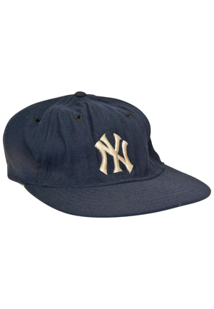 Early-Mid 1970s New York Yankees Game-Used Cap Attributed to Thurman Munson (Rare)