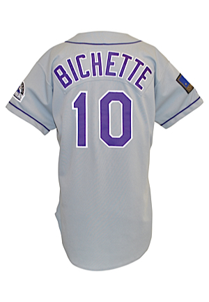 1994 Dante Bichette Colorado Rockies Road Jersey (Colorado Rockies LOA)