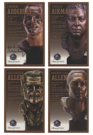 Pro Football Hall Of Fame Autographed Bronze Bust Collector Cards Set (260)(JSA • HoF COA)
