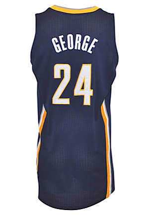 2011-12 Paul George Indiana Pacers Game-Used Home & Road Jerseys (2)