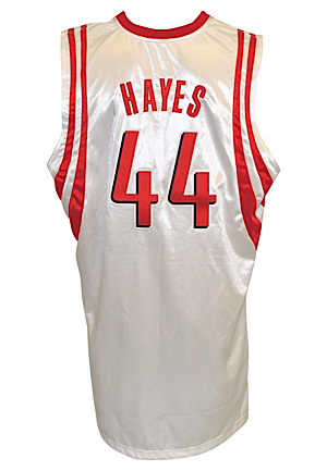 2005-06 Chuck Hayes Houston Rockets Game-Used & Autographed Home Jersey (JSA)