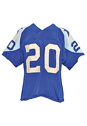 Mid 1960s Mel Renfro Rookie Era Dallas Cowboys Game-Used Double Star Road Durene Jersey (Rare)