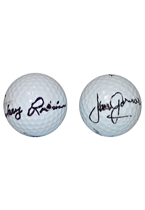 "William ""Smokey"" Robinson, Jr. & James Garner Autographed Golf Balls (2)(JSA)"