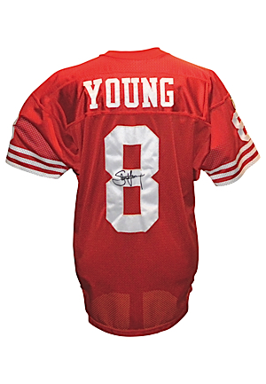 1995 Steve Young San Francisco 49ers Game-Used & Autographed Home Jersey (JSA)