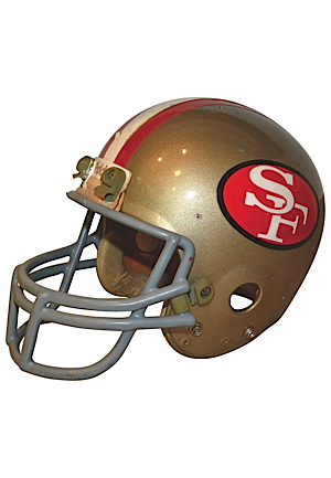 1980s San Francisco 49ers Game-Used Helmet Attributed To Ronnie Lott (Detached Facemask)