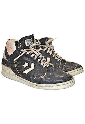 Mid-To-Late 1980s Larry Bird Boston Celtics Game-Used & Autographed Sneakers (JSA • Ball Boy LOA)