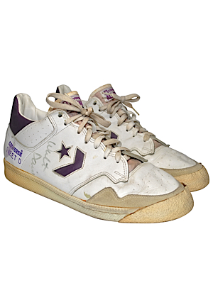 Mid 1980s Walter Davis Phoenix Suns Game-Used & Autographed Sneakers (JSA • Ball Boy LOA)