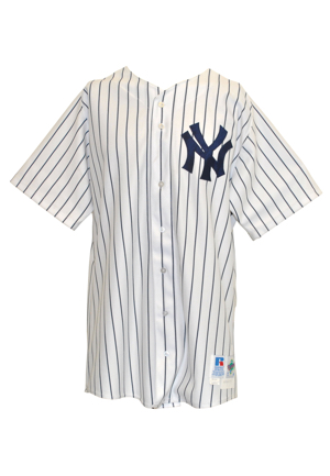 1998 David Wells New York Yankees Game-Used Pinstriped Home Jersey (Championship Season • Perfect Game Season)
