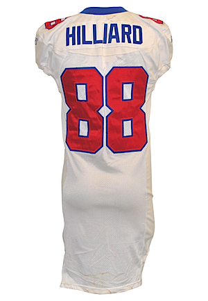 2002 Ike Hilliard New York Giants Game-Used Items — Road Jersey, Cleats & Gloves (3)(New York Giants COAs • Unwashed)