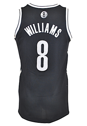 3/7/2014 & 3/15/2014 Deron Williams Brooklyn Nets Game-Used Road Jersey (Steiner Sports LOA)