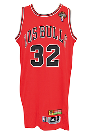 "2012-2013 Richard ""Rip"" Hamilton Chicago Bulls Noche Latina Game-Used Road Jersey (Chicago Bulls Charities LOA)"
