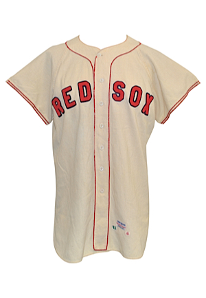 1961 Red Sox Minor League Game-Used Home Flannel Jersey