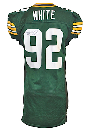 1994 Reggie White Green Bay Packers Game-Used & Autographed Home Jersey (JSA)