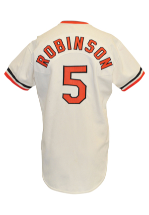 1977 Brooks Robinson Baltimore Orioles Game-Used & Autographed Home Jersey (Full JSA LOA • Photo-Matched • Final Season)