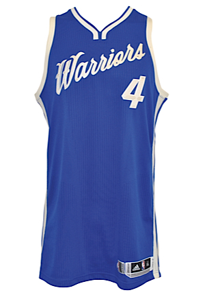 12/25/2015 Brandon Rush Golden State Warriors Game-Used Christmas Day Home Jersey (NBA LOA)