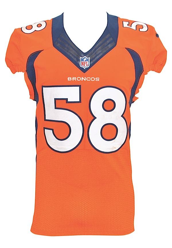 Lot Detail - 12/7/2014 Von Miller Denver Broncos Game-Used ...