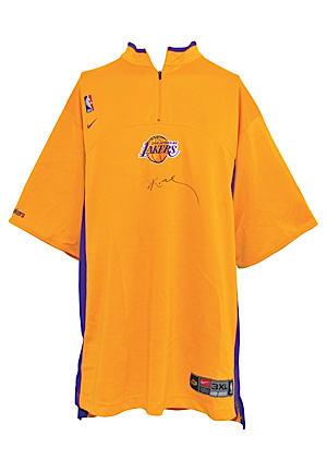 2003-04 Los Angeles Lakers Game-Used & Autographed Shooting Shirt Attributed To Kobe Bryant (JSA • NBA Hologram)