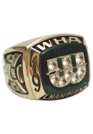 1973 Jack Kelley New England Whalers WHA Championship Ring (Salesman Sample)