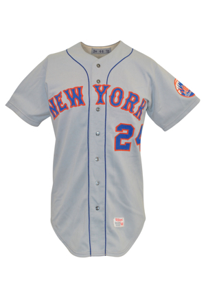 1972 Willie Mays New York Mets Game-Used Road Jersey (Photo-Matched • Fantastic Example • Mays First Mets Shirt Ever Issued)