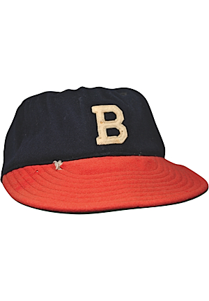 Boston Braves Game-Used & Team-Issued Caps (2)