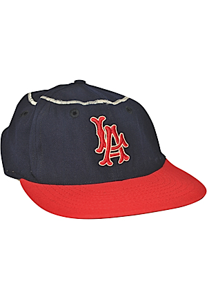 California Angels Game-Used & Team-Issued Caps (2)