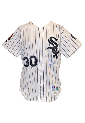 1994 Tim Raines Chicago White Sox Game-Used & Autographed Home Uniform (2)(JSA)