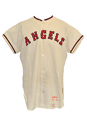 1967 Jack Sanford California Angels Game-Used Home Flannel Jersey