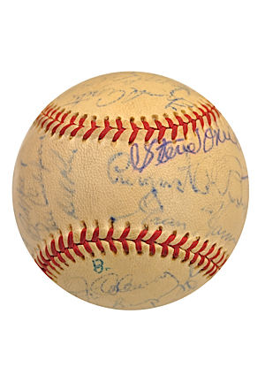 1925 New York Yankees Spring Training Team-Signed Baseball (JSA)