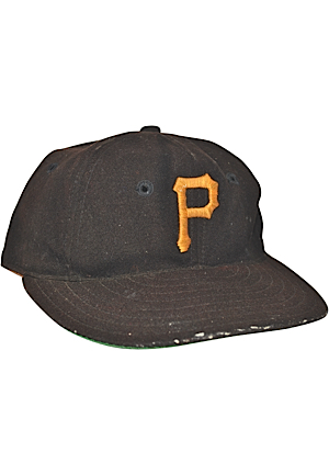Late 1940s Pittsburgh Pirates Coaches-Worn Wool Cap Attributed To Honus Wagner (Rare)