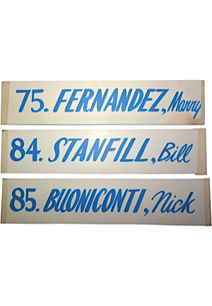 Super Bowl VII Locker Room Nameplates (3)(Equipment Manager LOAs)