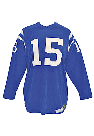 1968 Earl Morrall Baltimore Colts Game-Used Home Jersey