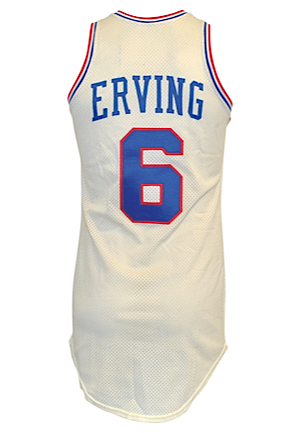 "Early 1980s Julius ""Dr. J"" Erving Philadelphia 76ers Game-Used Home Jersey (Perfect Example)"