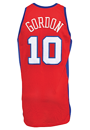 12/25/2009 Eric Gordon Los Angeles Clippers Game-Used Christmas Day Road Jersey (NBA LOA)