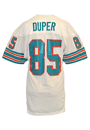 Early 1980s Mark Duper Rookie Era Miami Dolphins Game-Used & Autographed Home Jersey (JSA)