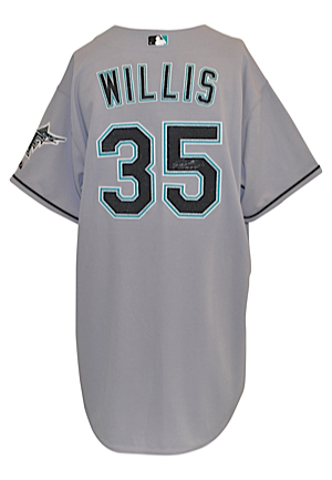 2006 Dontrelle Willis Florida Marlins Game-Used & Autographed Home Jersey (JSA • Sourced From Julio Franco)