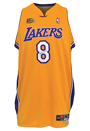 2000-01 Kobe Bryant Los Angeles Lakers NBA Finals Game-Used & Autographed Home Jersey (DC Sports LOA • Championship Season)