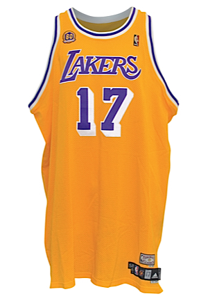 2007-08 Andrew Bynum Los Angeles Lakers TBTC Game-Used Home Uniform (2)