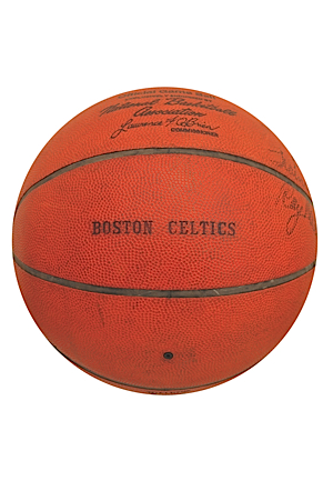 Ray Melchiorre Boston Celtics Autographed Game-Used Basketball (JSA)