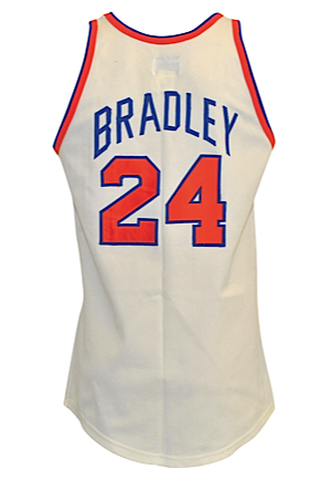 "Circa 1970 ""Dollar"" Bill Bradley New York Knicks Game-Used & Twice Autographed Home Knit Uniform (2)(Full JSA LOA • Scarce Full Uniform With Name Sewn In Trunks)"