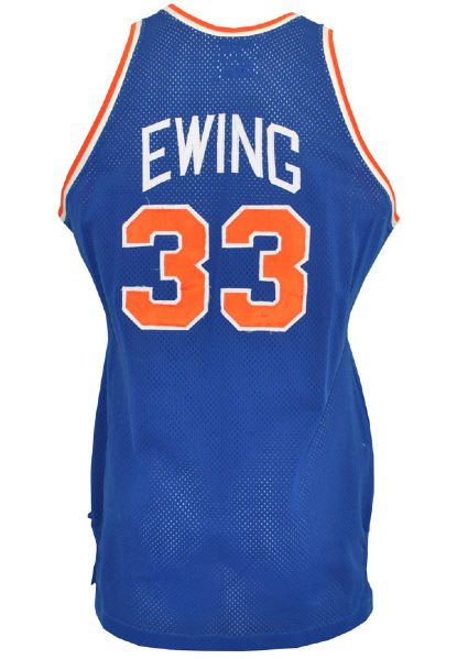 1985-86 Patrick Ewing New York Knicks Game-Used Road Jersey (RoY Season)