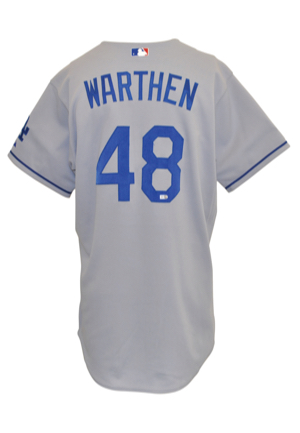 2007 Dan Warthen Los Angeles Dodgers Coaches-Worn Road Jersey & 1999 Larry Rothschild Tampa Bay Devil Rays Manager-Worn & Autographed Home Jersey (2)(JSA • MLB Hologram • Steiner Sports LOA • Tampa...