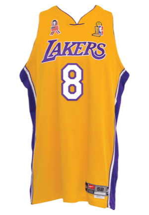 7ce60b706 Lot Detail - 2001-02 Kobe Bryant Los Angeles Lakers Game-Used ...