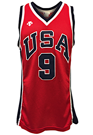 1984 Michael Jordan USA Olympic Mens Basketball Game-Used Red Jersey (Only Known Photo-Matched Jordan Olympic Jersey & Earliest Fully Documented Career Example • Hobby Fresh)